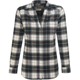 Royal Robbins Merinolux Plaid Maglietta a maniche lunghe Donna marrone/bianco